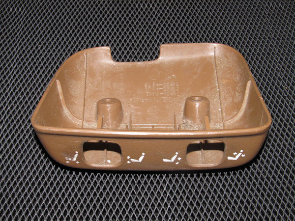 90-96 Nissan 300zx OEM Brown Power Seat Switch Trim Bezel Cover - Driver Side - Left