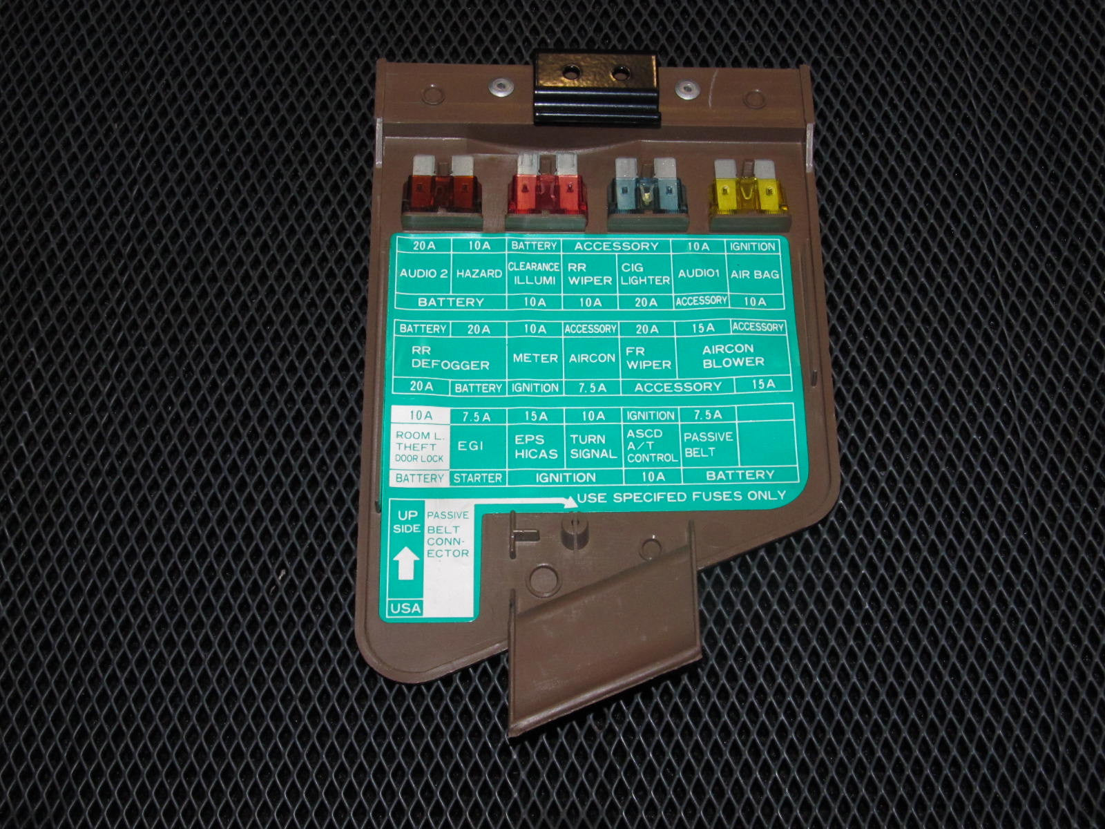 90 96 nissan 300zx oem brown interior fuse box cover autopartone com rh autopartone com 1991 nissan 300zx fuse box diagram nissan 300zx fuse box relocation