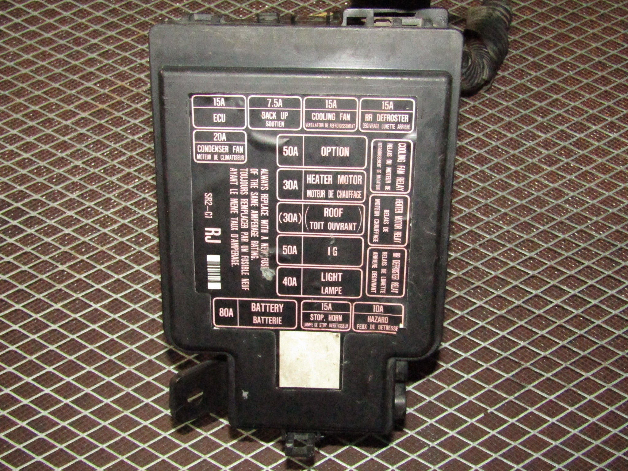 1995 Honda Del Sol Fuse Box Location