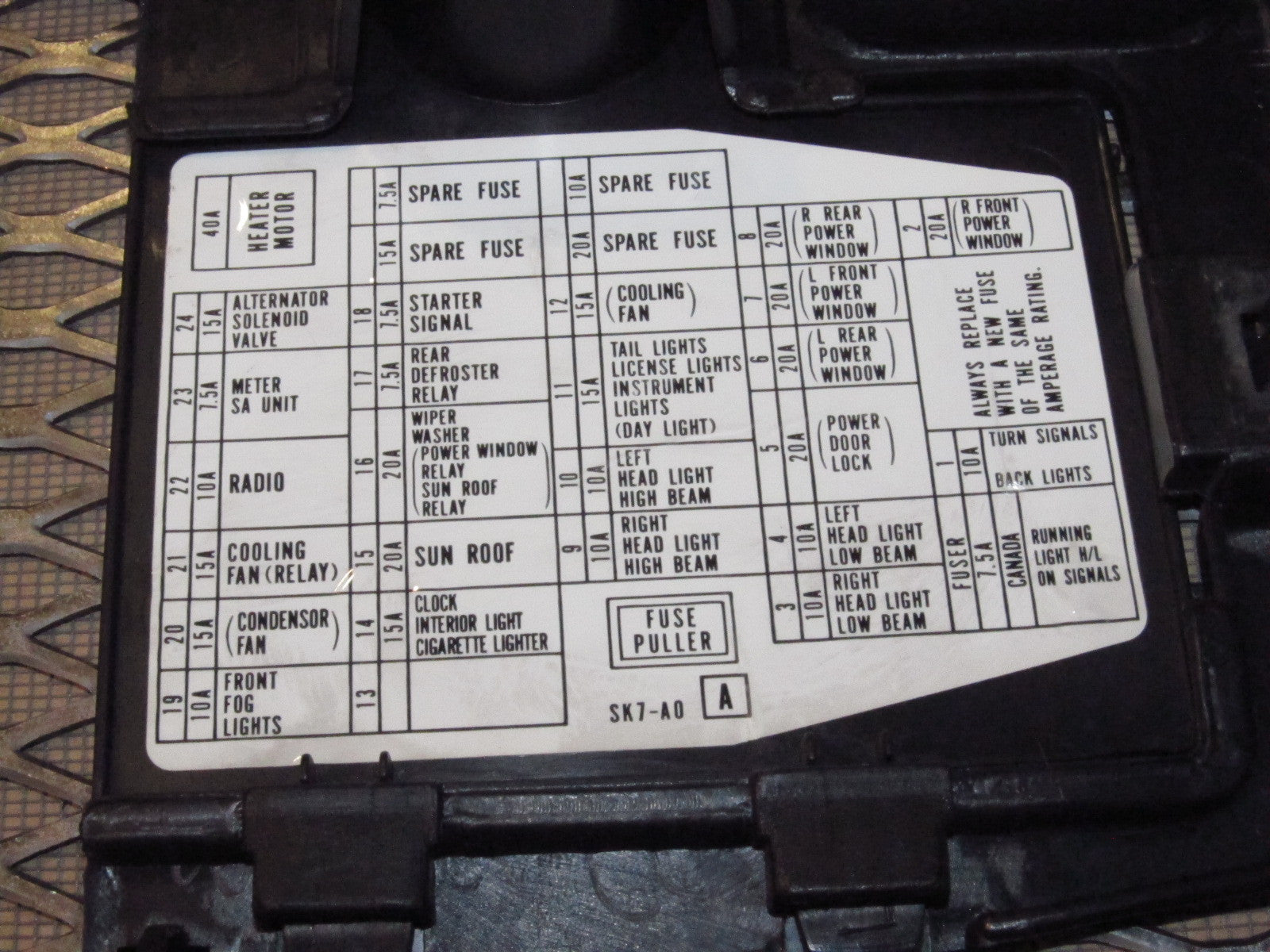 90 91 92 93 Acura Integra OEM Kick Panel Cover Set  Integra Fuse Box Diagram on