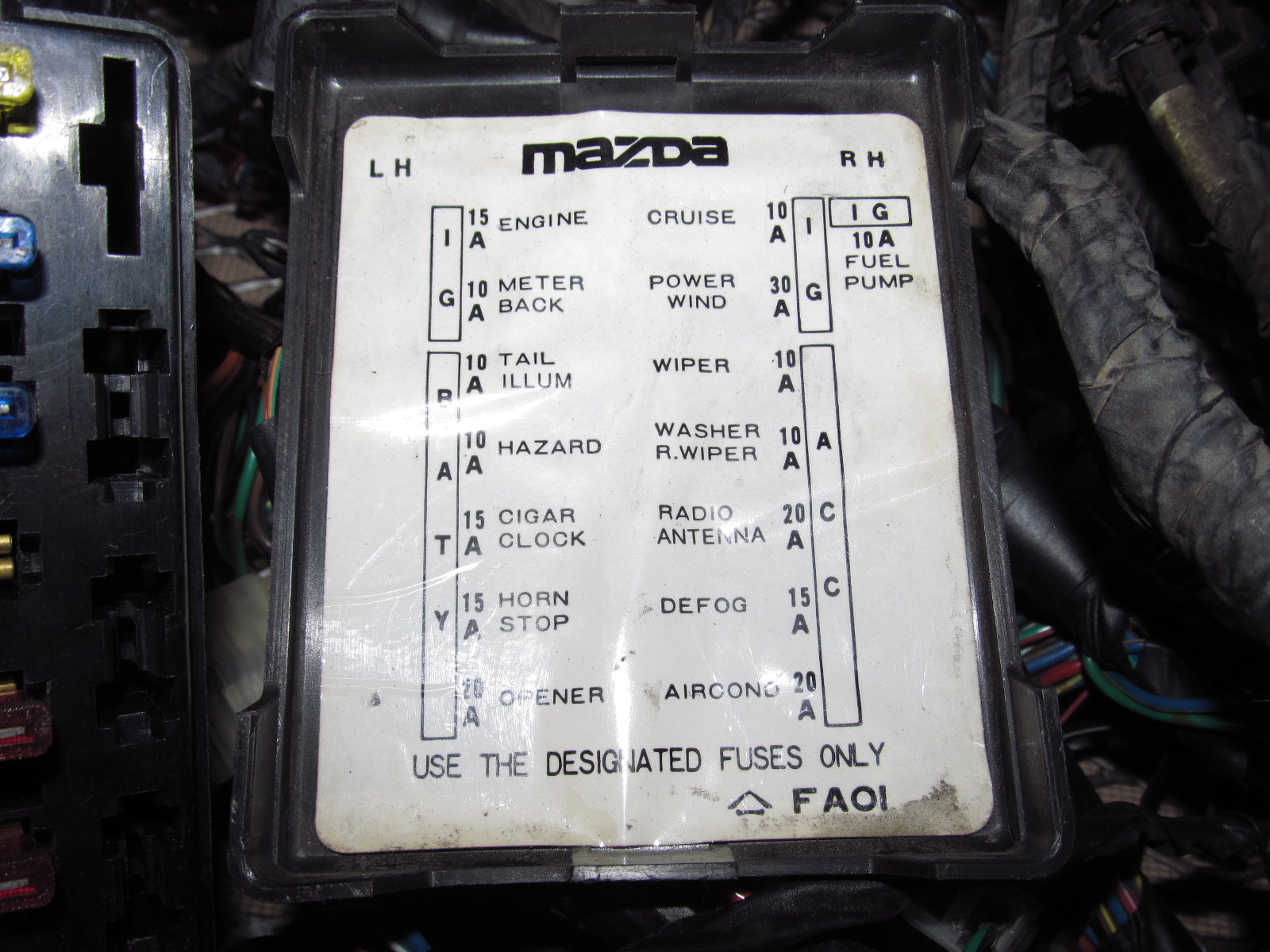 1983 Mazda Rx7 Oem Headlight Dash Wiring Harness