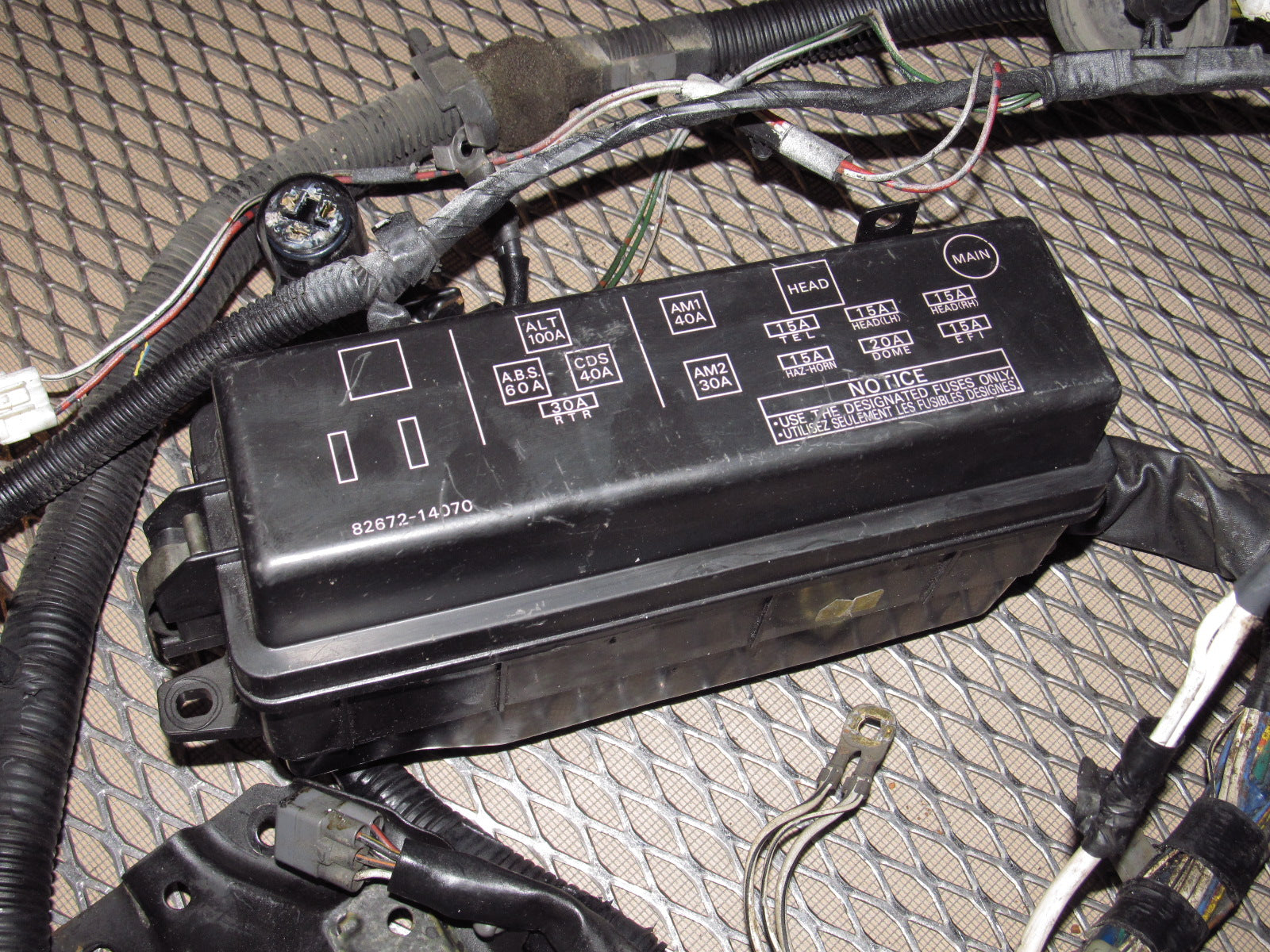 Toyota Supra Headlight Wiring Harness Electrical Diagrams Supera 89 90 91 92 Oem Fuse Box And Suspension
