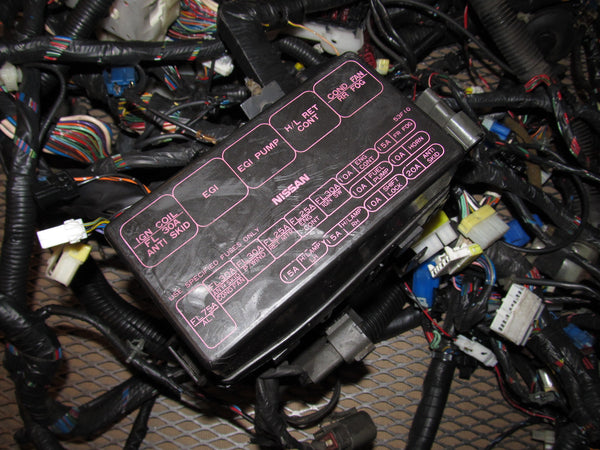 91 92 93 94 Nissan 240SX OEM Fuse Box Wiring Harness  Sx Injector Wire Diagram on 91 240sx s13 ka24de engine wiring, 91 240sx radio wires, 240sx stereo wiring diagram,