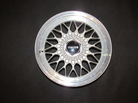 89 90 91 92 Mazda RX7 OEM BBS Wheel & Center Cap - 15 Inch