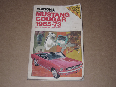 65-73 Mustang Cougar Repair & Tune-Up Guide Manual