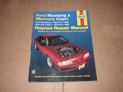 79-93 Ford Mustang Mercury Capri Repair Manual