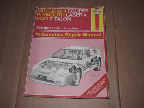 90-94 Mitsubishi Eclipse Plymouth Laser & Eagle Talon Repair Manual
