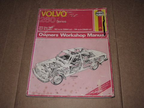 75-82 Volvo 260 Series Owners Shop Manual
