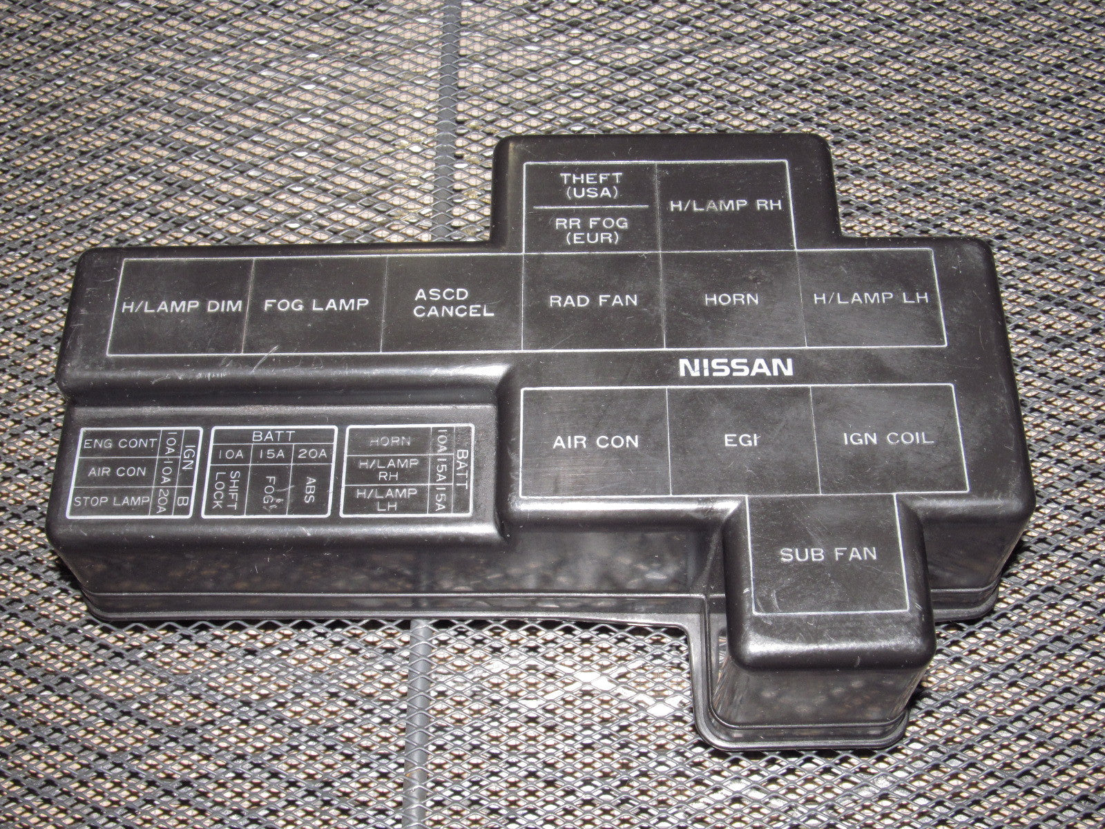 90 96 Nissan 300zx Oem Engine Fuse Box Cover Autopartone Com