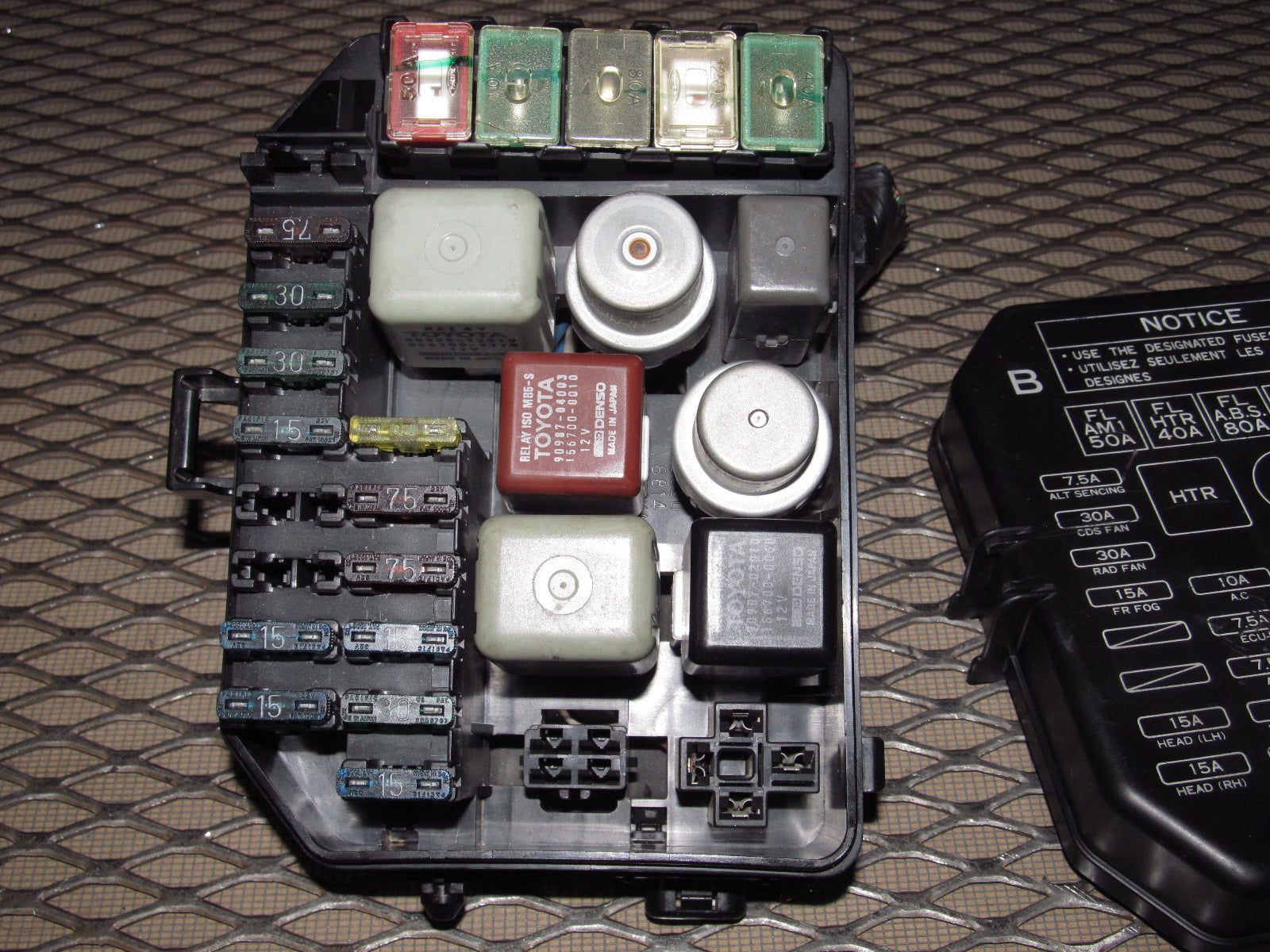 91 92 93 94 95 Toyota MR2 OEM Front In Hood Fuse Box ...  Toyota Mr Fuse Box on 92 toyota truck, 92 toyota previa, 92 toyota supra, 92 toyota celica, 92 toyota van, 92 toyota corolla, 92 toyota tacoma, 92 toyota rav4, 92 toyota echo, 92 toyota prado, 92 toyota prerunner, 92 toyota avalon, 92 toyota paseo, 92 toyota 4 runner, 92 toyota land cruiser, 92 toyota chaser, 92 toyota hilux, 92 toyota camry dx,
