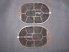 90-96 Nissan 300zx OEM Brown Speaker Grille - Front Set