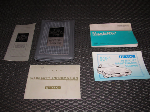 1988 Mazda RX7 OEM Owner's Manual
