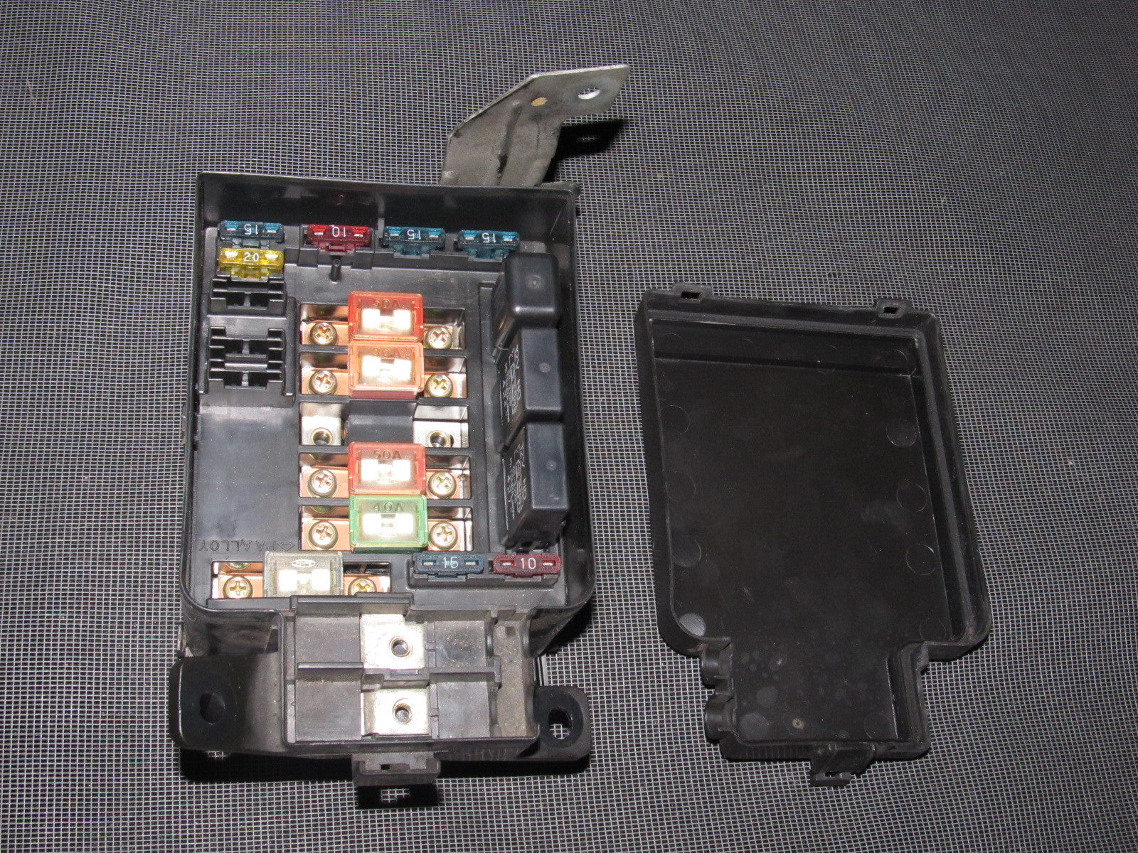 93 94 95 honda del sol oem b16 engine fuse box with relays ... 93 94 95 honda del sol oem interior fuse box autopartone 93 honda del sol fuse diagram