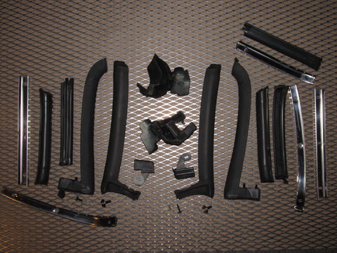 99 00 Mazda Miata OEM Convertible Soft Top Moulding Stripping - Set