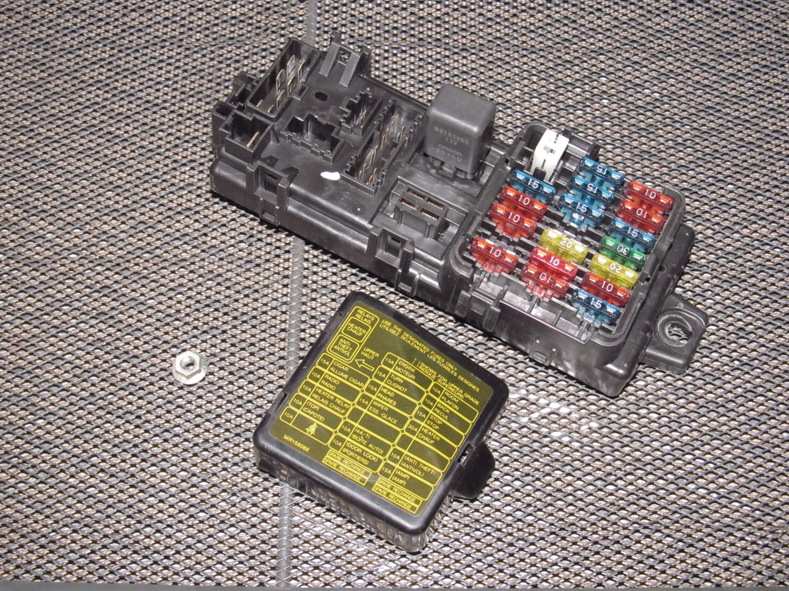 94 95 96 97 Mitsubishi 3000GT OEM Interior Fuse Box ...  Sx Fuse Box Diagram on 95 240sx starter diagram, 95 240sx radio, 95 240sx interior, 95 240sx wiring, s14 fuse diagram, 1999 nissan altima engine diagram, 95 240sx dash lights, 95 240sx fuel pump,