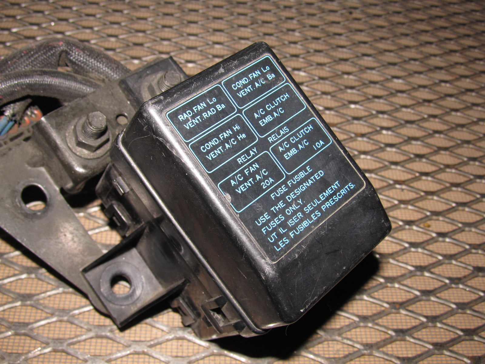 91 92 93 dodge stealth oem radiator fan a/c clutch fan relay fuse box