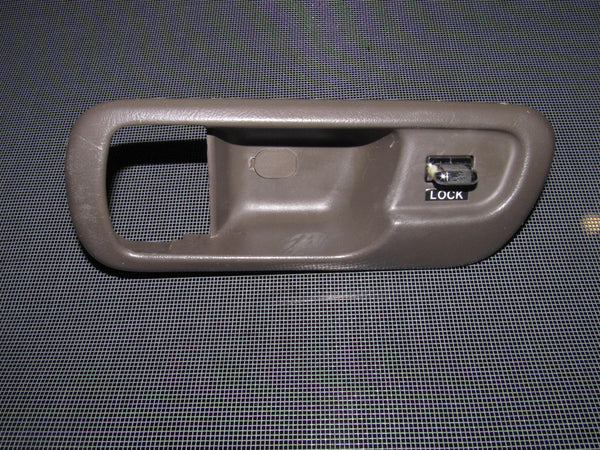 94-01 Acura Integra OEM Brown Door Lock Bezel with Power Door Lock Switch - Driver's Side - Left