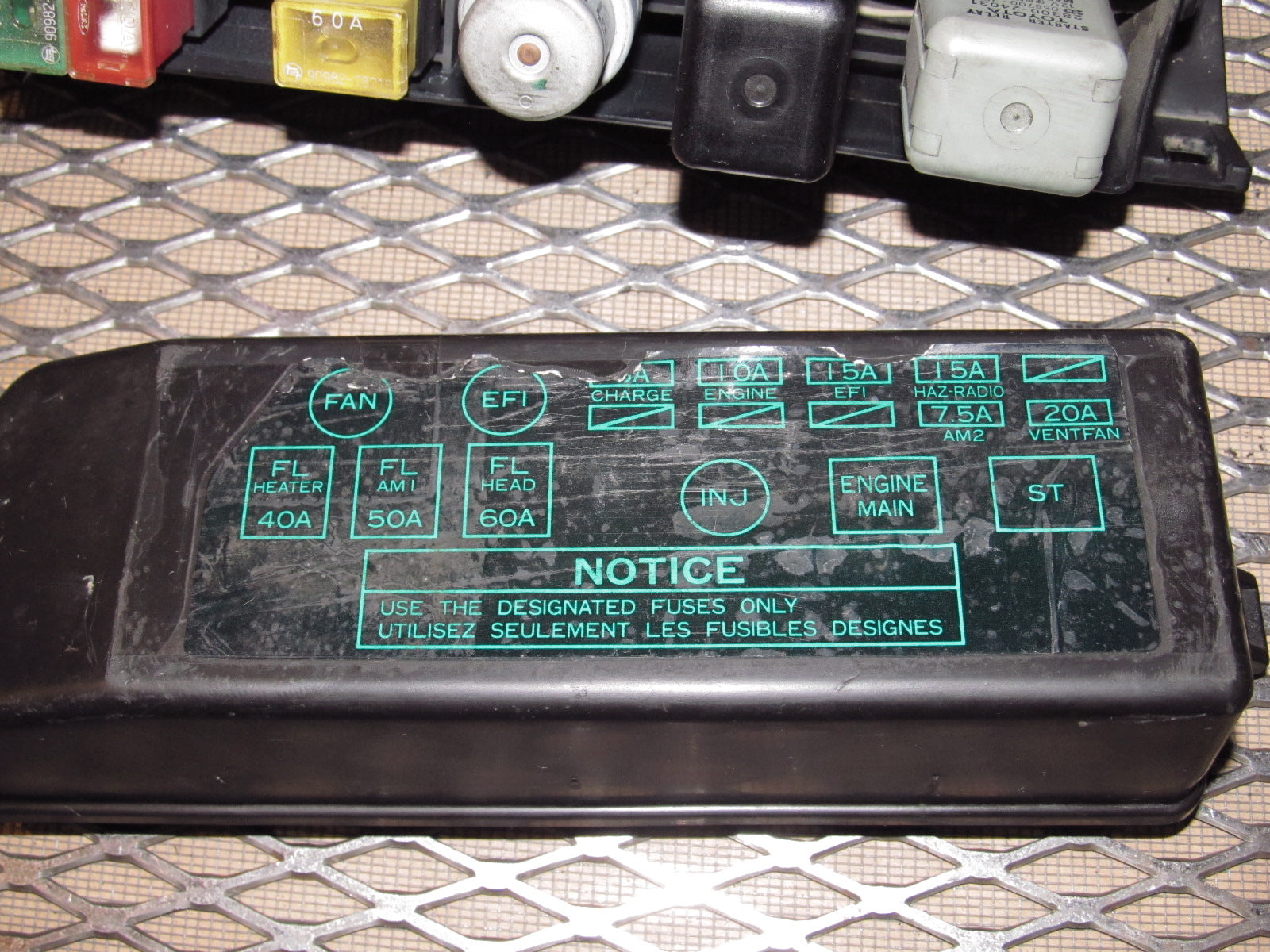 87 88 89 Toyota Mr2 Oem Engine Fuse Box 1985