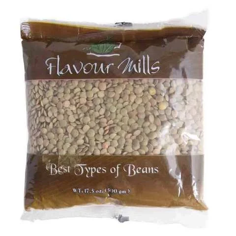 Flavour Mills Lentil Green Whole 500 Gram - MartDeliver