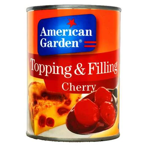 American Garden Topping And Filling Cherry 595 Gram - MartDeliver