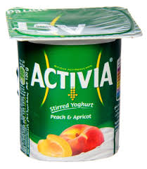 Activia Stirred Yoghurt Peach And Apricot Flavor 120 Gram