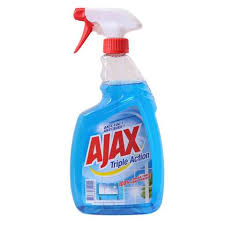 Ajax Glass Cleaner Triple Action And Surface Blue 750 Ml