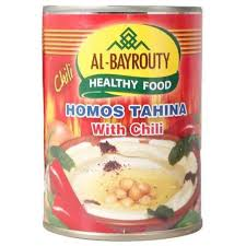 Al-Bayrouty Hommos Tehina With Chili 380 Gram