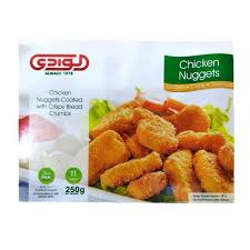 Alwadi Chicken Nuggets Coated With Crispy Bread Crumbs 250 Gram