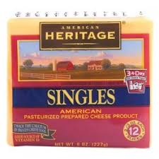 American Heritage Cheese Slices Fat Free 340 Gram