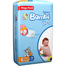 Bambi Diapers Mega Pack X Large 74 Pieces - MartDeliver