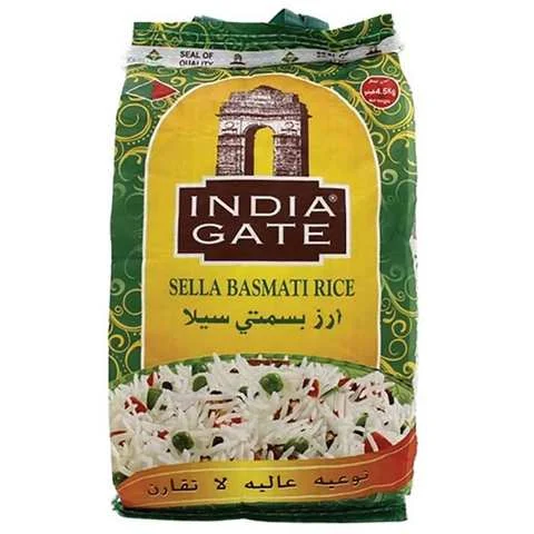 India Gate Sella Basmti Rice 4.5 Kg - MartDeliver