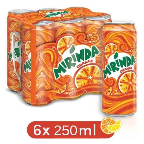 Mirinda Drink Orange Flavor 250 Ml 6 Pieces - MartDeliver
