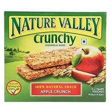 Nature Valley Bar Roasted Almond with apples 42 Gram 6 Pieces - MartDeliver