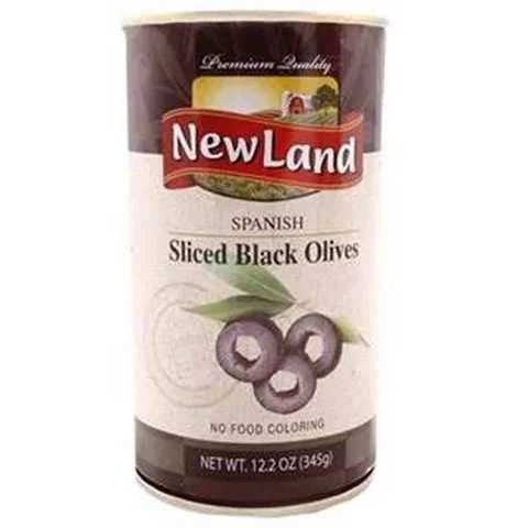 Newland Sliced Black Olives 345 Gram - MartDeliver