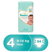Pampers Premium Care Diapers Size 4 Maxi 9-14 Kg Giant Pack 54 Diapers - MartDeliver