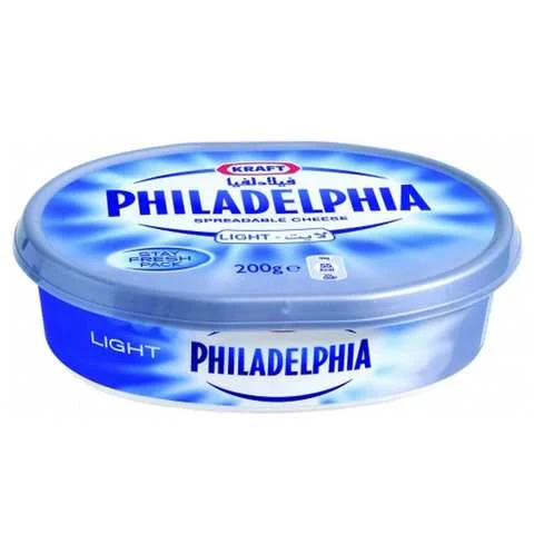Philadelphia Spread Cheese Light 200 Gram - MartDeliver