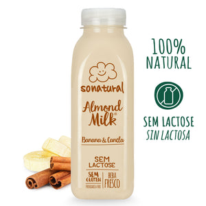 Almond Milk (bebida vegetal) Sonatural de Banana e Canela