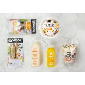 Active Meal Box - Sandes + Protein Pack + Salada + Wrap + Sumo + Almond Milk