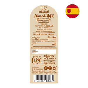 Almond Milk Sonatural Banana e Canela 400ml x3