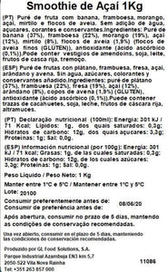 Smoothie Açaí Sonatural 1kg