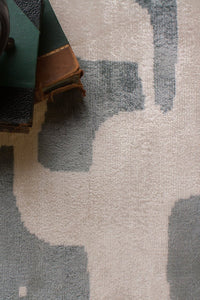 white petrol  contemporary rugs