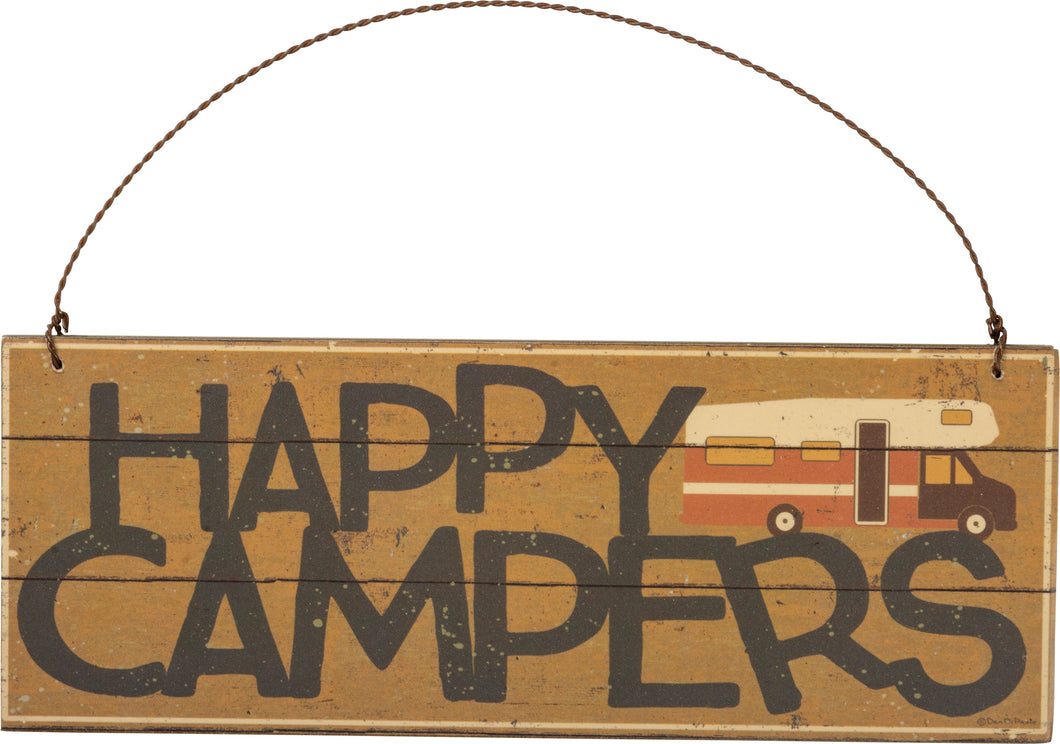 Hanging Decor - Happy Campers
