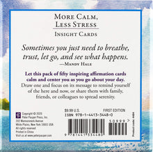 Load image into Gallery viewer, More Calm, Less Stress Insight Cards (Deck of 50 Relaxation Cards)