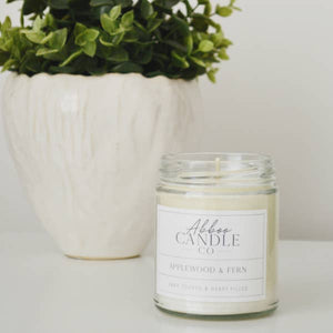 Applewood & Fern Soy Candle by Abboo Candle Co
