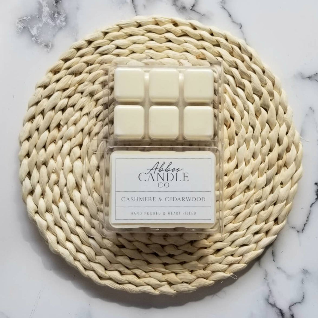 Cashmere & Cedarwood Soy Wax Melts by Abboo Candle Co