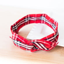 Load image into Gallery viewer, Wire Headbands - Red Plaid