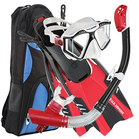 Mask - US Diver Adult Mask/Snorkel/Fin Set (mens 9-13 / Ladies 10-14)