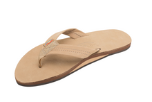 Load image into Gallery viewer, Mens - Rainbow Single Layer Premier Leather Sandal