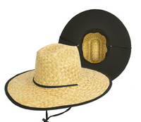 Straw Hat - Gold Coast Kenny Black Under Brim Straw Hat