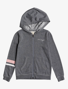 Hoodie - Roxy Girl First Began A Zip-Up Hoodie